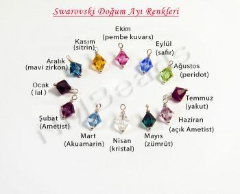 Swarovski Doğum Ayı Kristal Renkleri