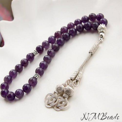 OOAK Amethyst 33 Prayer Beads With Turkish Love Knot Tassel